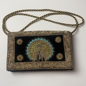 Vintage Art Deco Embroidered and Beaded Hand Bag